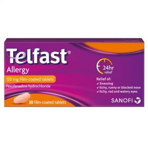 Telfast allergy tablets